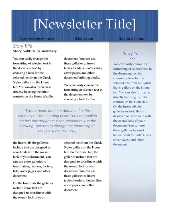 Newsletter Free Templates On Microsoft Word Newsletter Templates Word Madinbelgrade