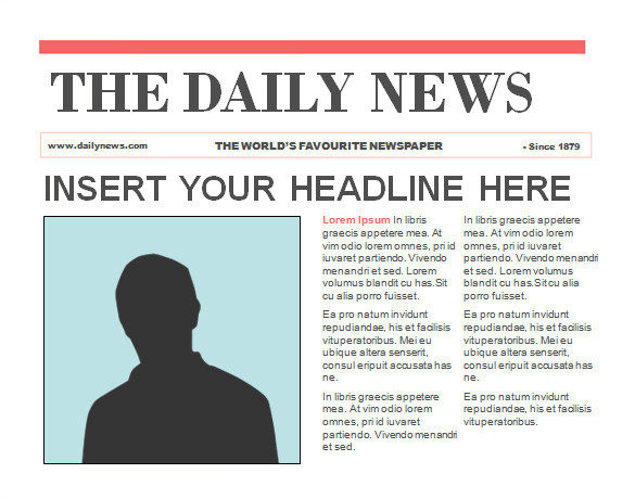 sample powerpoint newspaper
