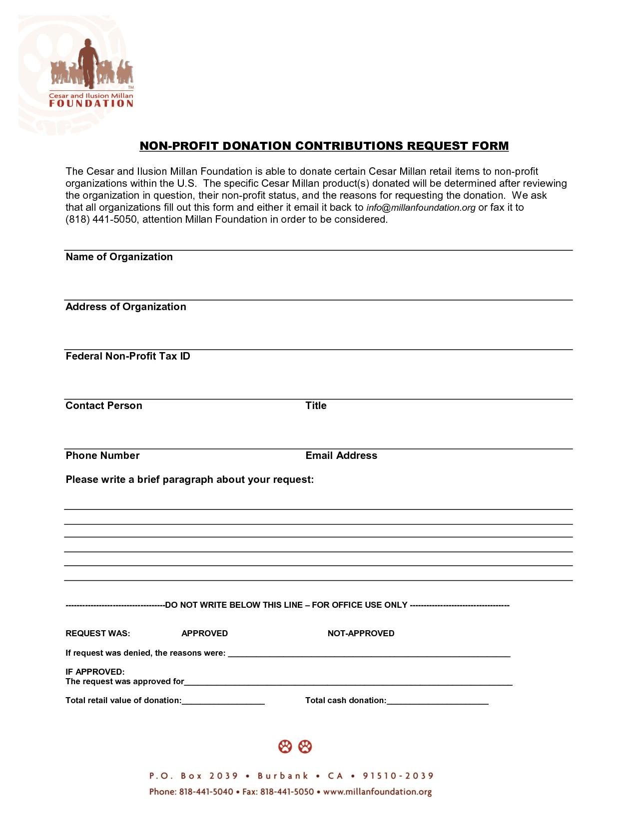 post non profit donation receipt form 99503