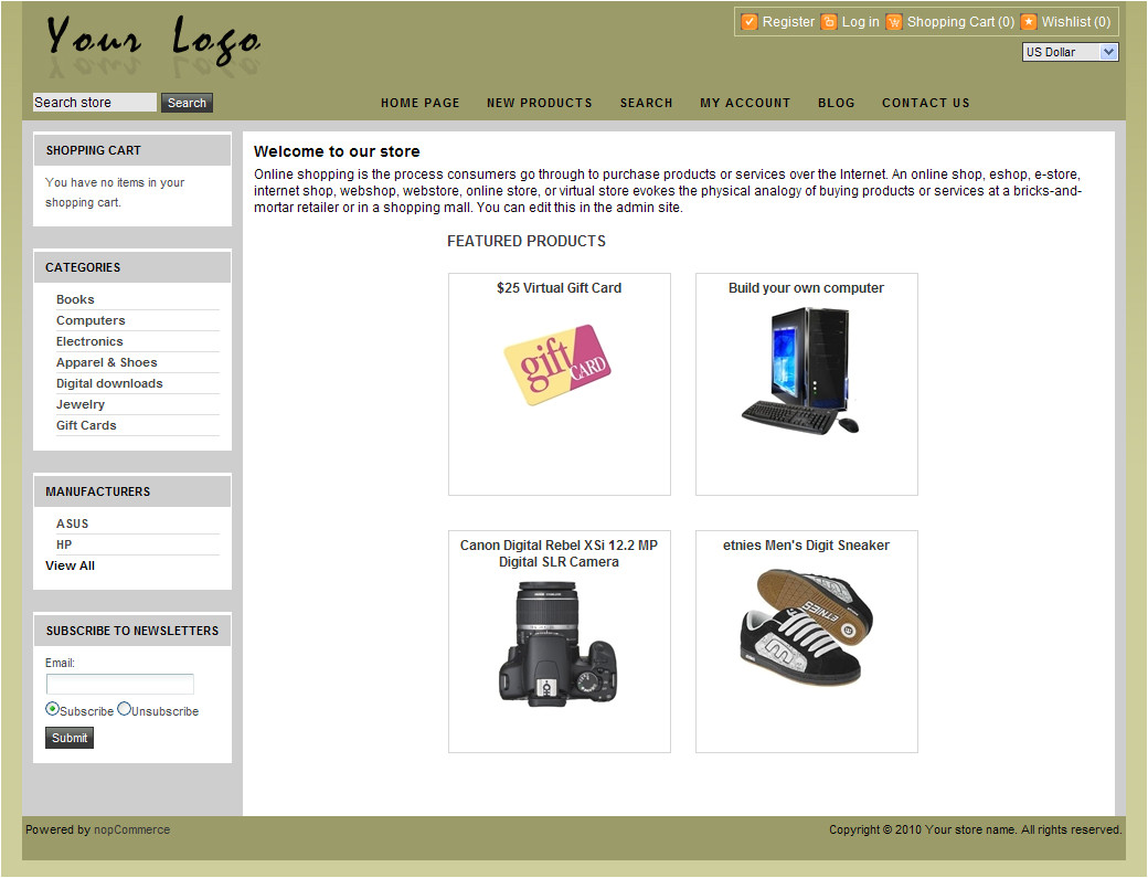 nopcommerce free 18 template