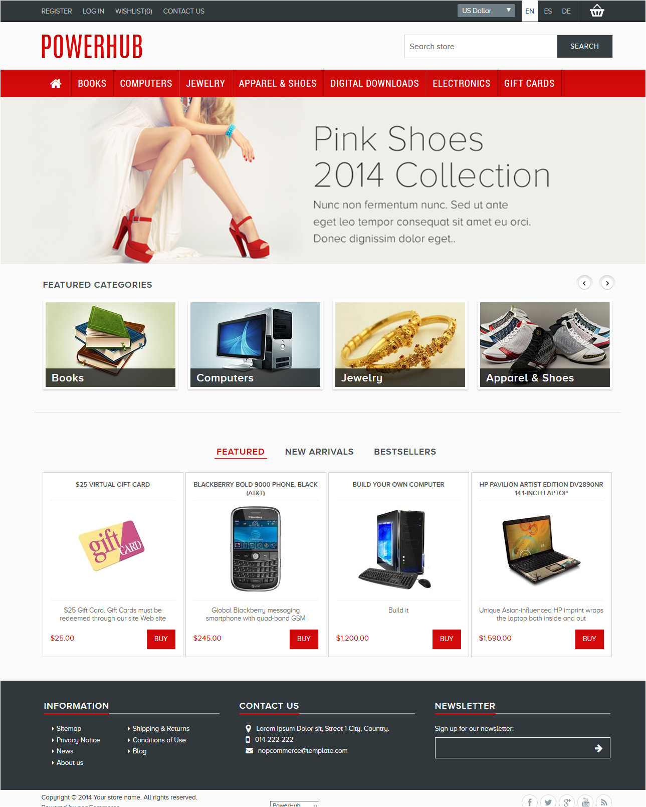 Nopcommerce Free Templates Free Templates for Nopcommerce