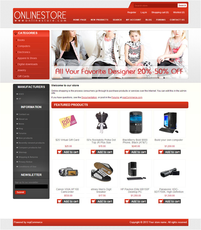 nopcommerce free template