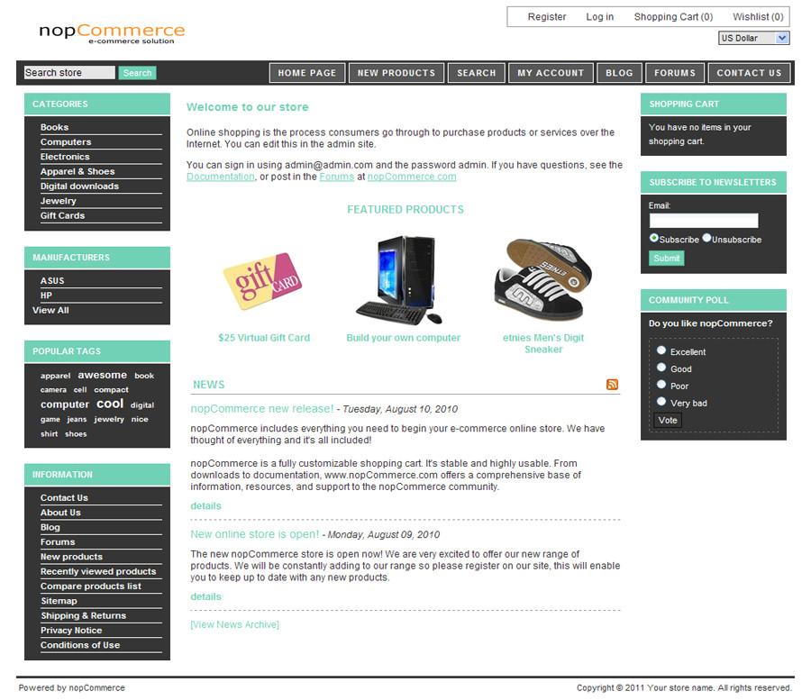 nopcommerce free 19 template