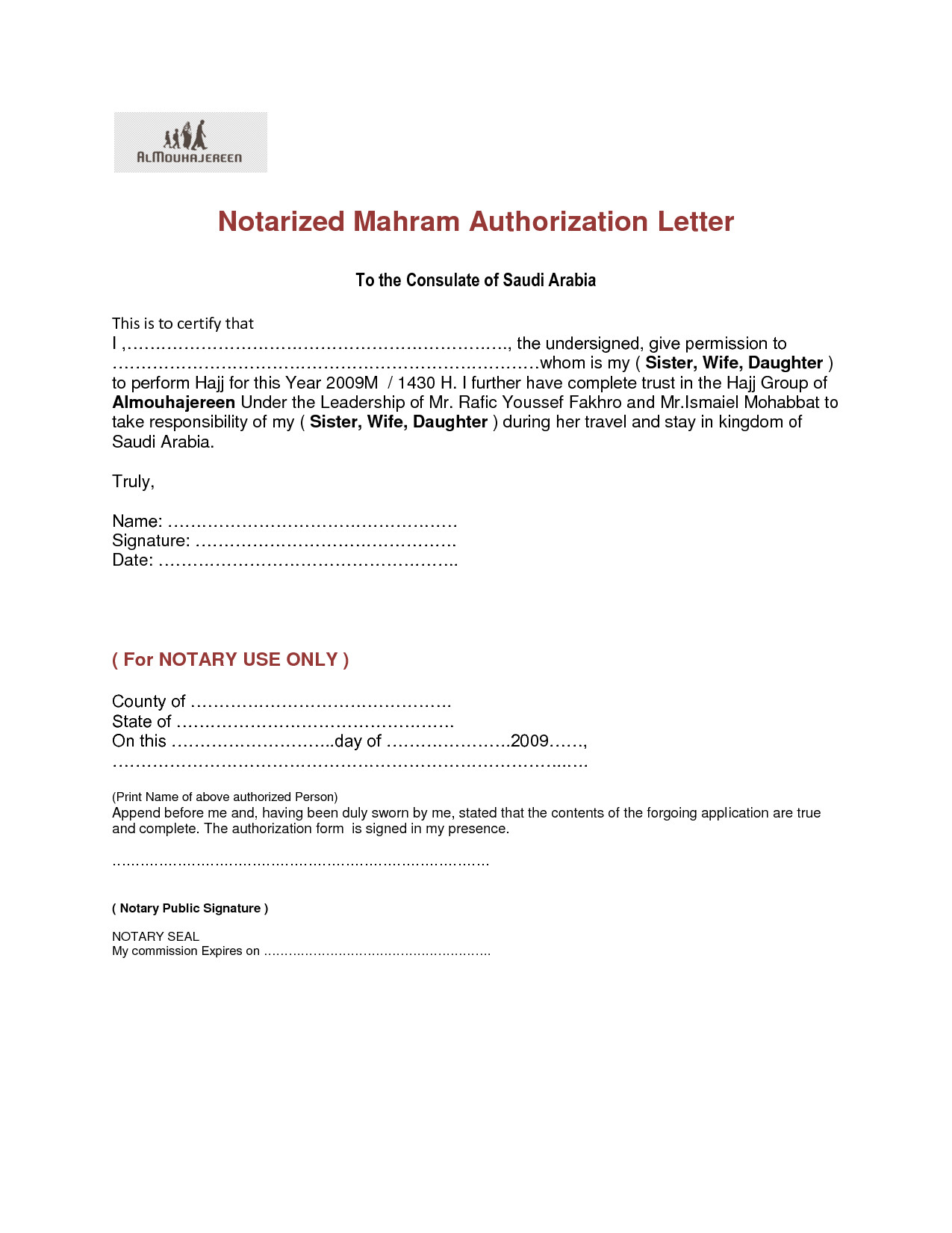 post notarized letter template for vehicle 447883