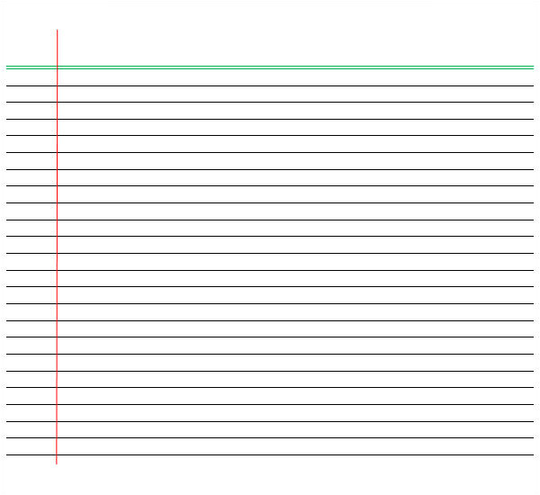 notebook paper template