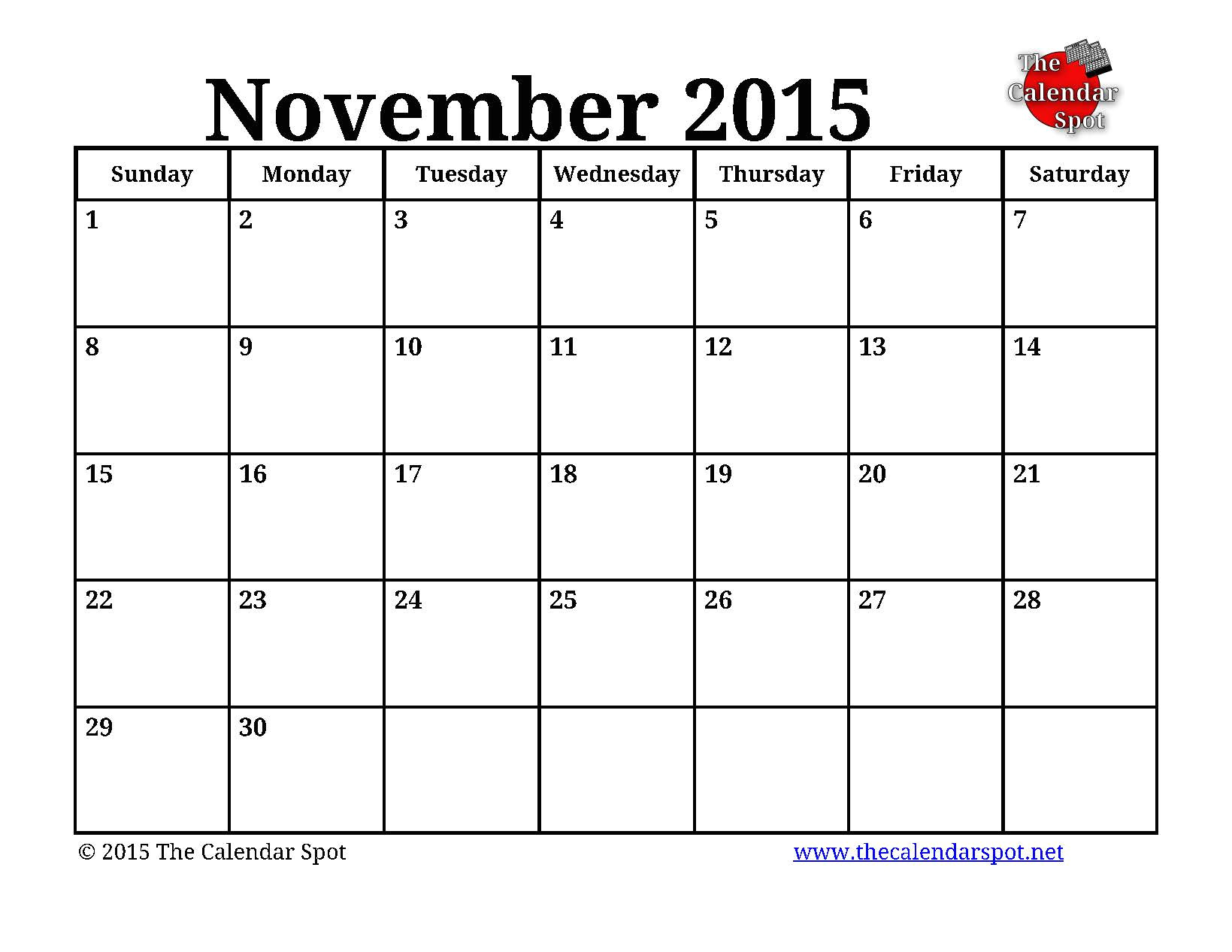 post november 2015 calendar printable october 67330