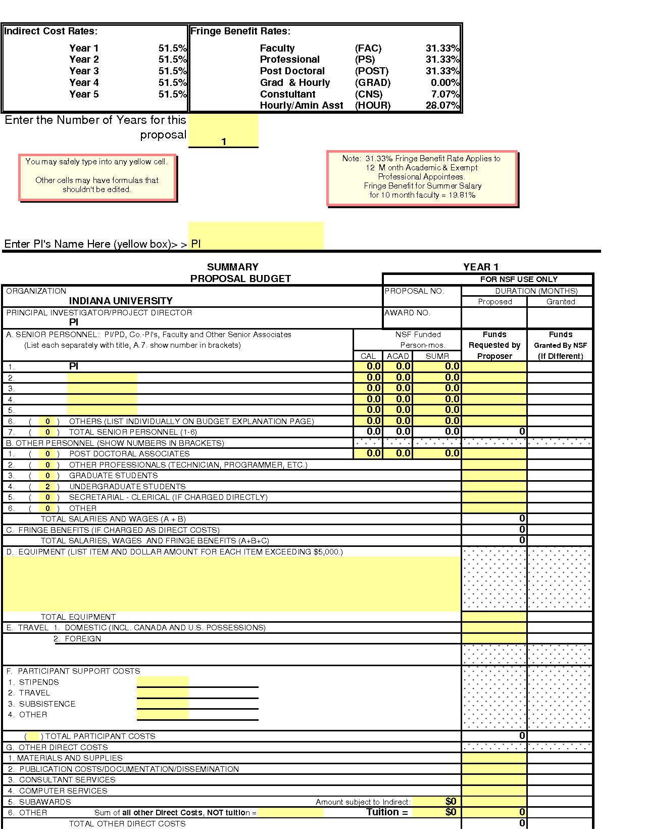8 nsf proposal template