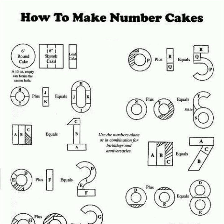 post number 6 cake template 435500