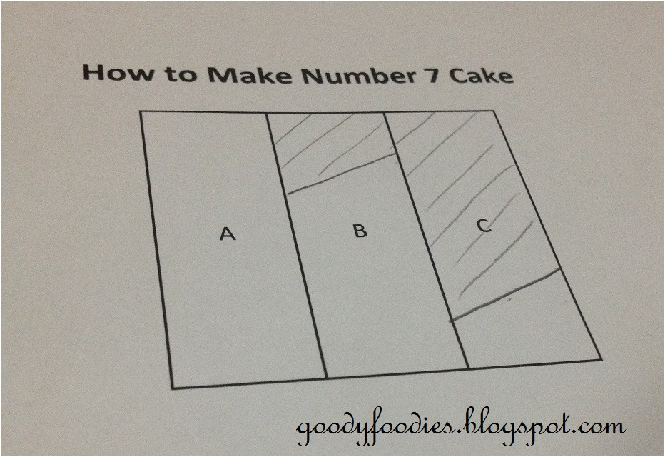 Number 1 Birthday Cake Template Goodyfoodies How to Make Number 7 Birthday Cake