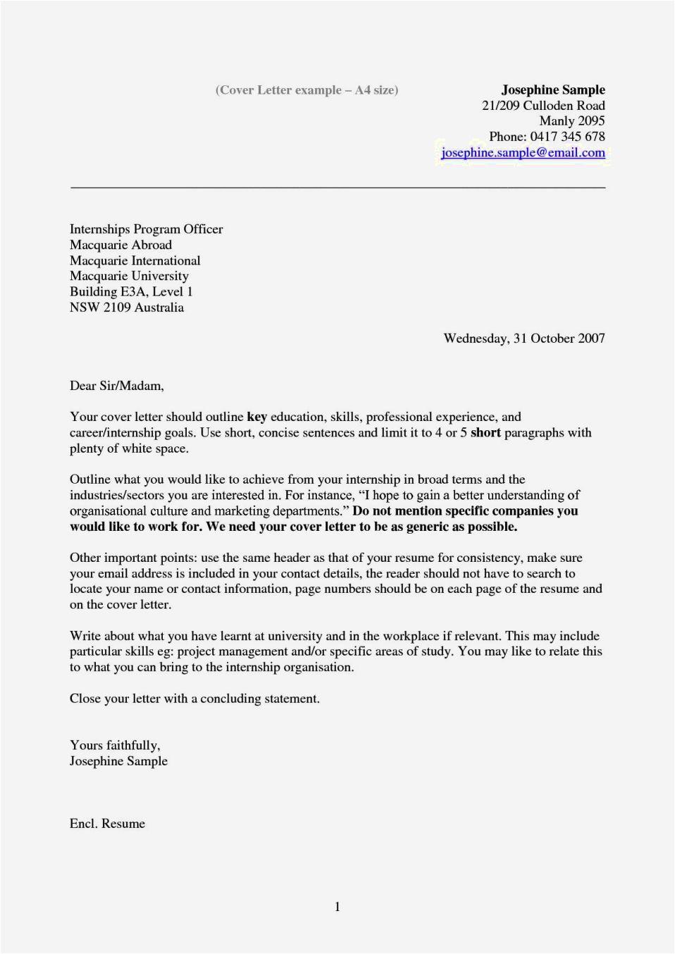cover letter examples australia