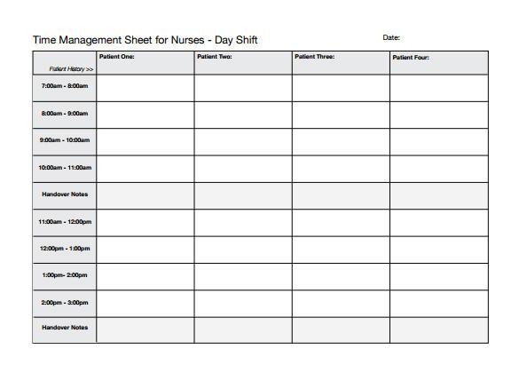 nurse schedule template
