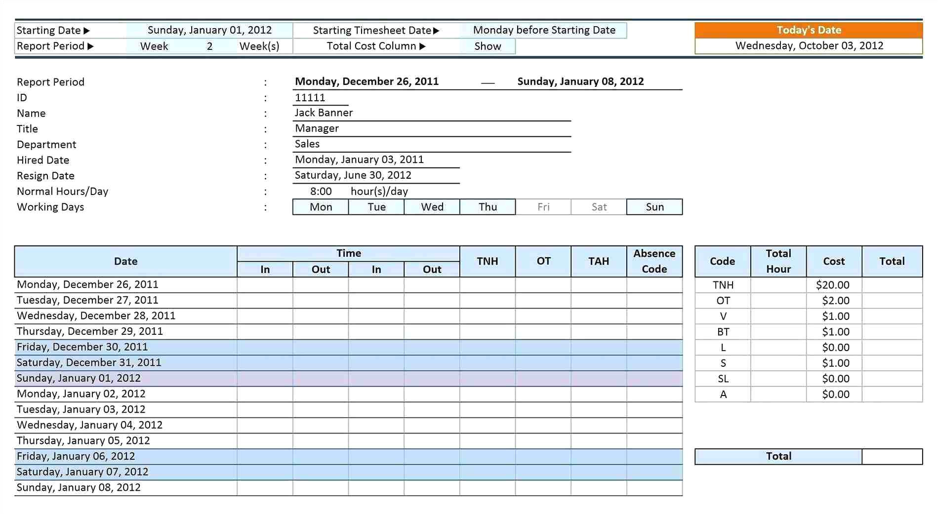 nursing roster templates