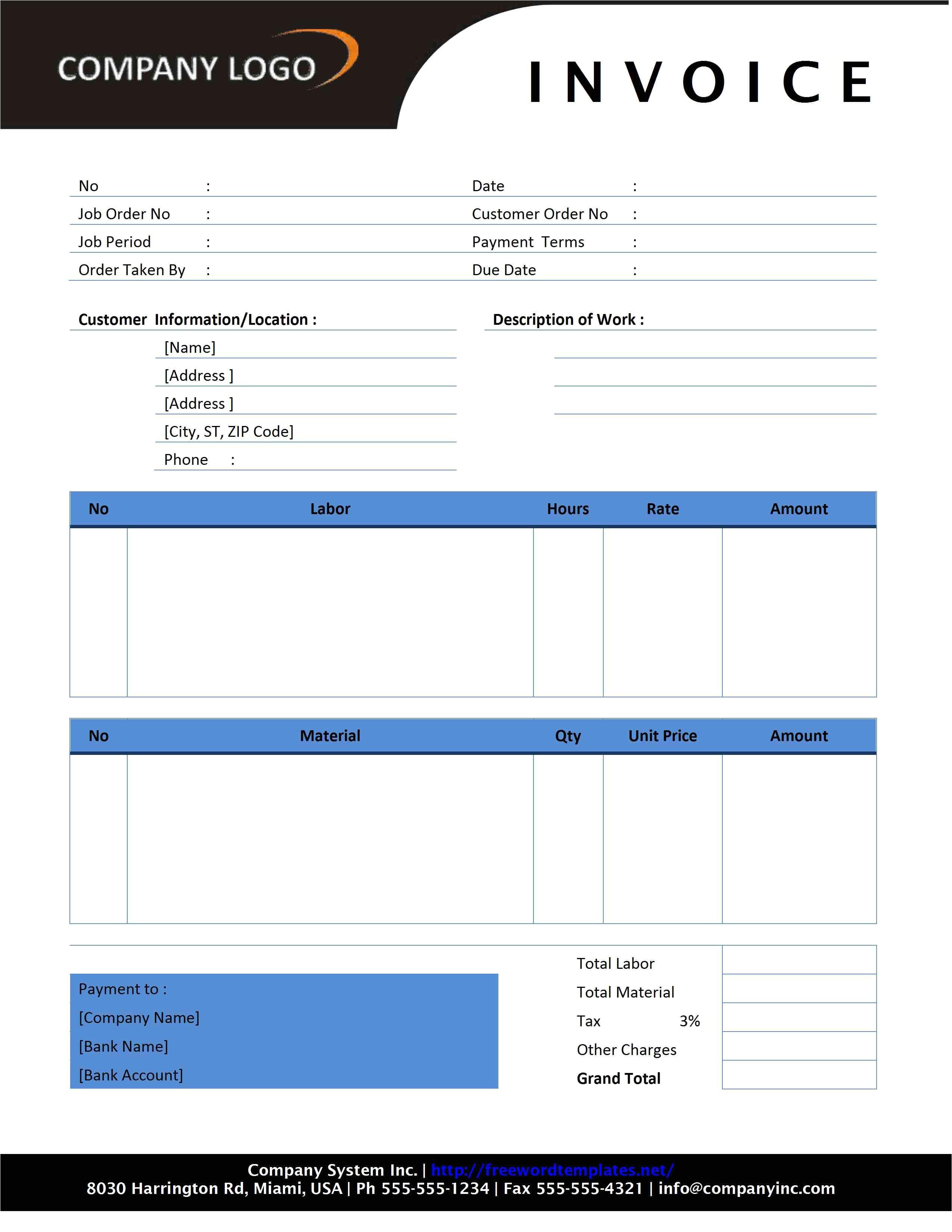 free invoice templates