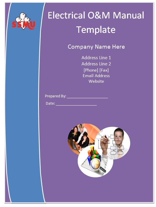O and M Manual Template Electrical O M Manual Template Guide Help Steps