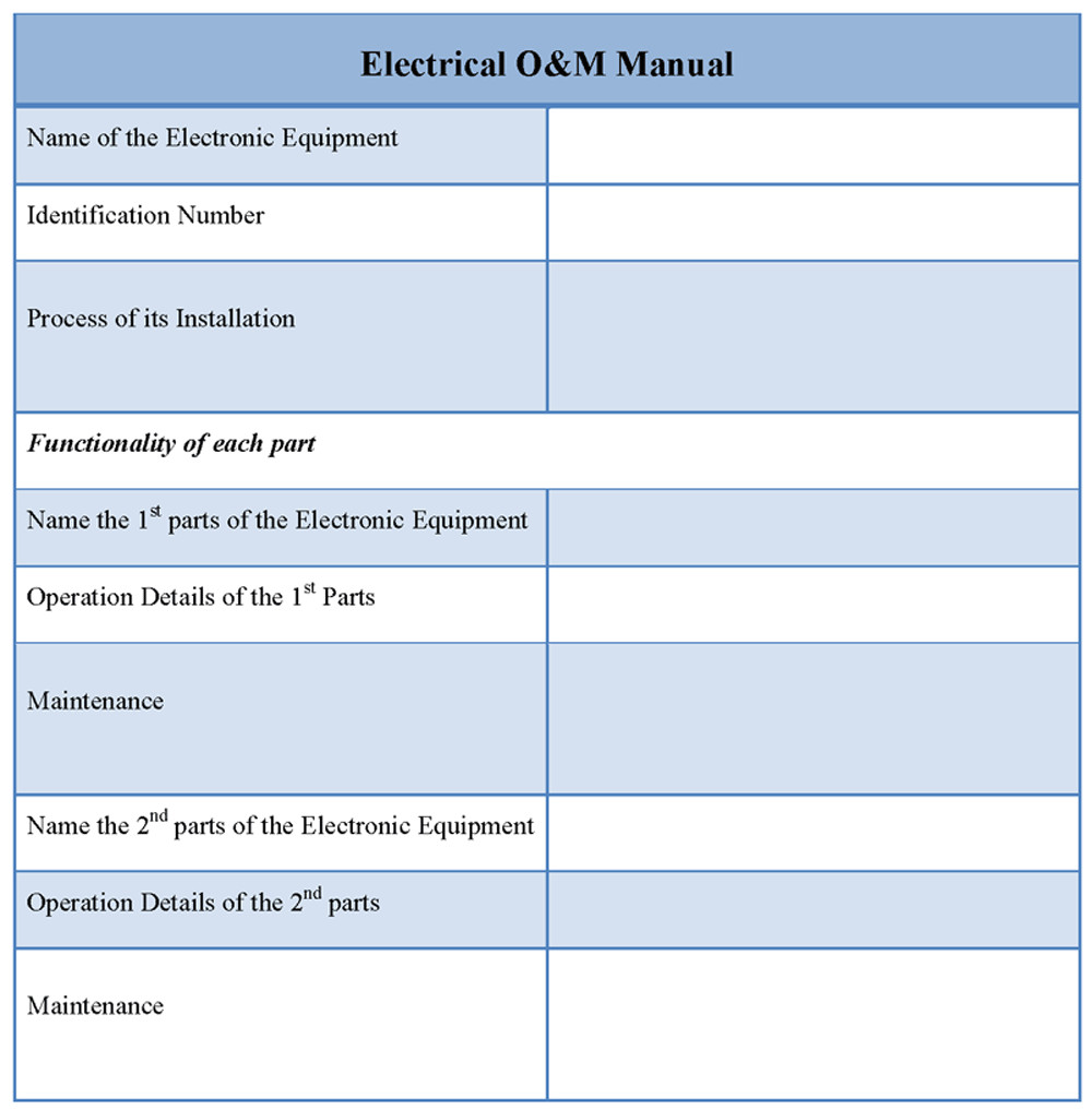 O and M Manual Template O and M Manual Related Keywords O and M Manual Long Tail