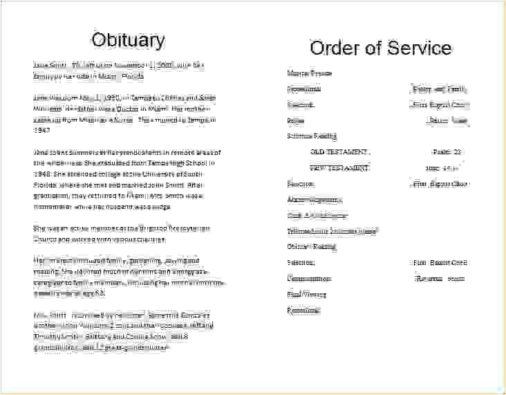 8 obituary template for microsoft word