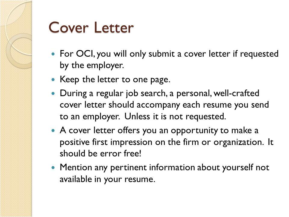 oci cover letter oci application