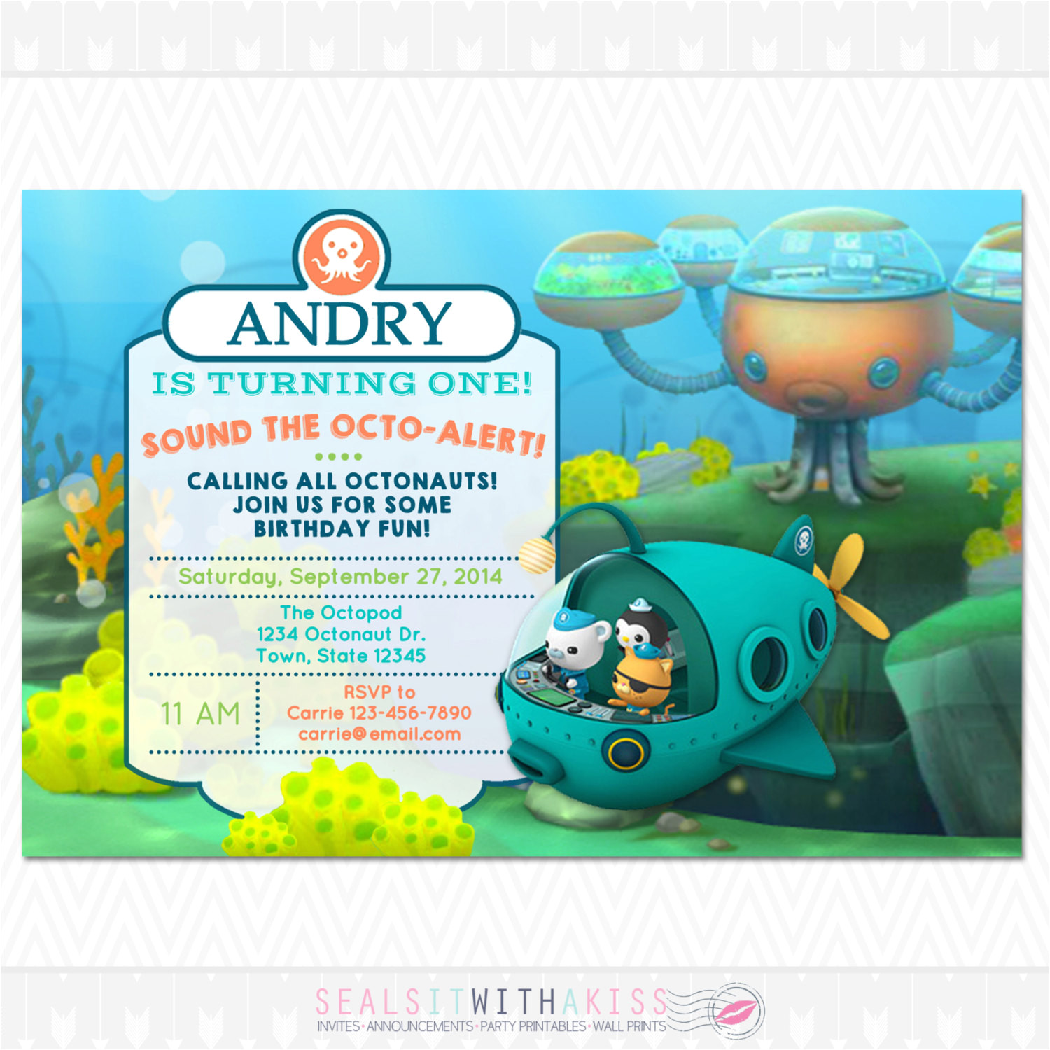 Octonauts Templates Octonauts Birthday Invitations Octonauts Birthday
