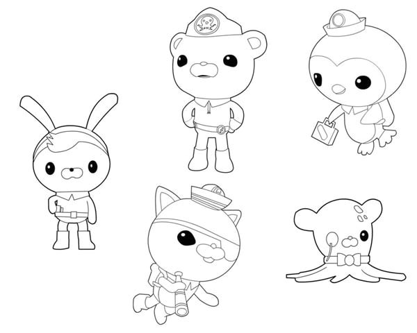 Octonauts Templates Octonauts Coloring Pages Bestofcoloring Com