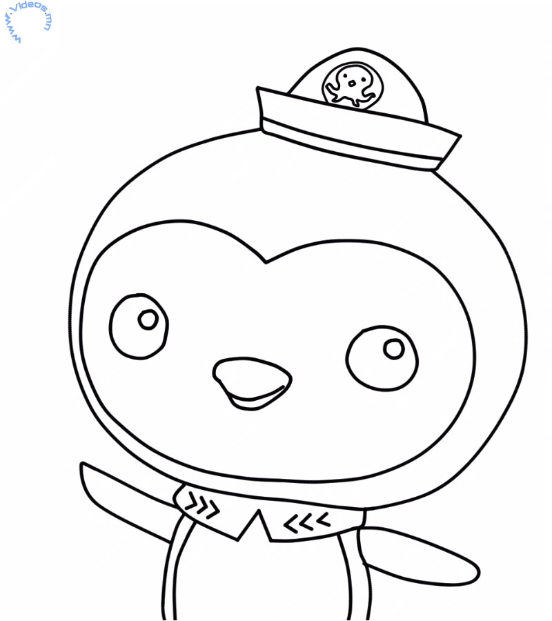 Octonauts Templates Peso Penguin From the Octonauts Coloring Page Videos Mn