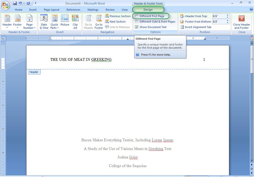 Office 2007 Apa Template Microsoft Office Apa 6th Edition Template