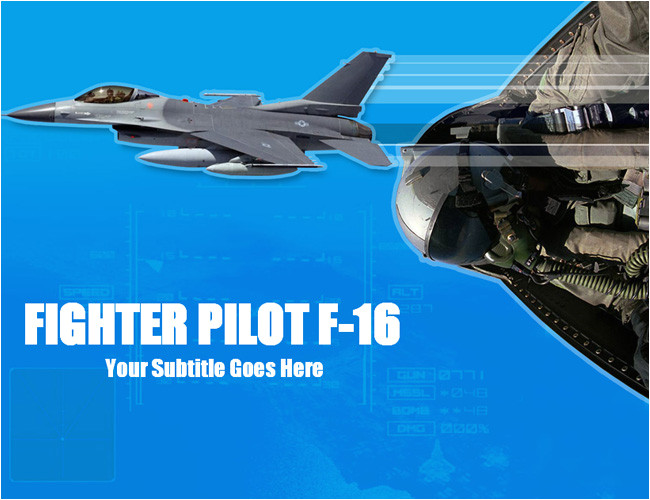 f16 fighter ppt template