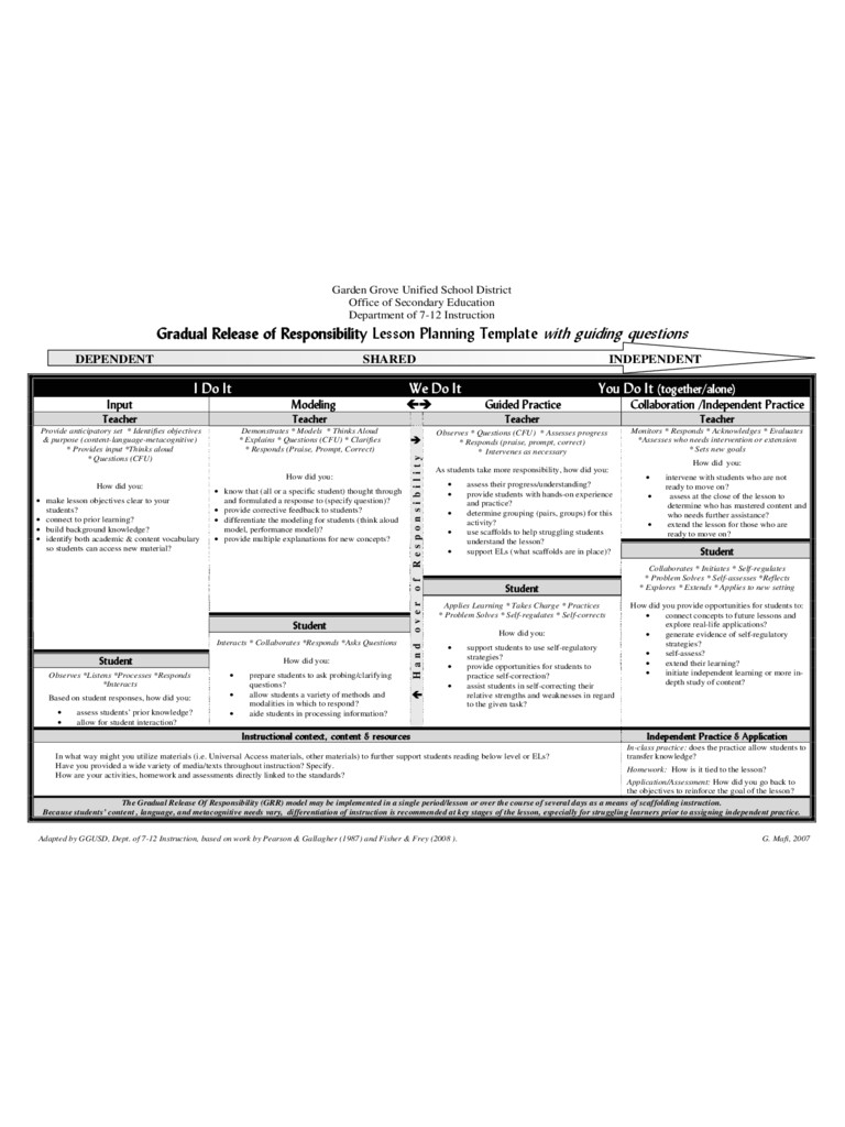 department of education lesson plan template