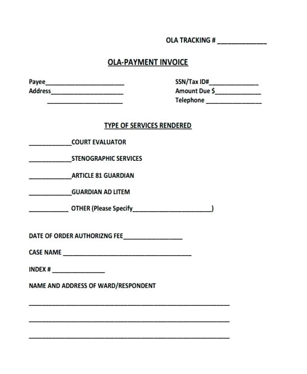ola document template