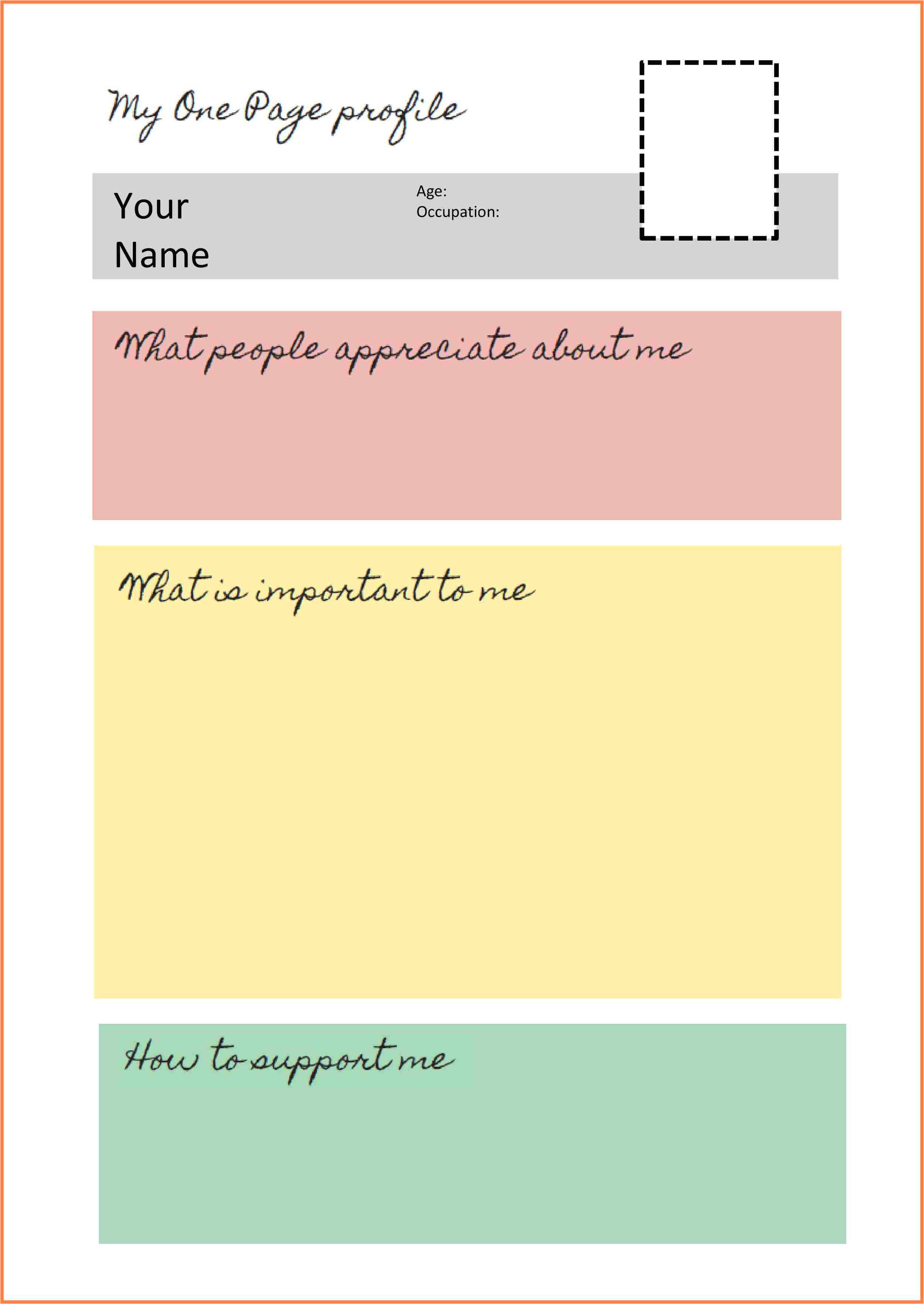 8 one page company profile template