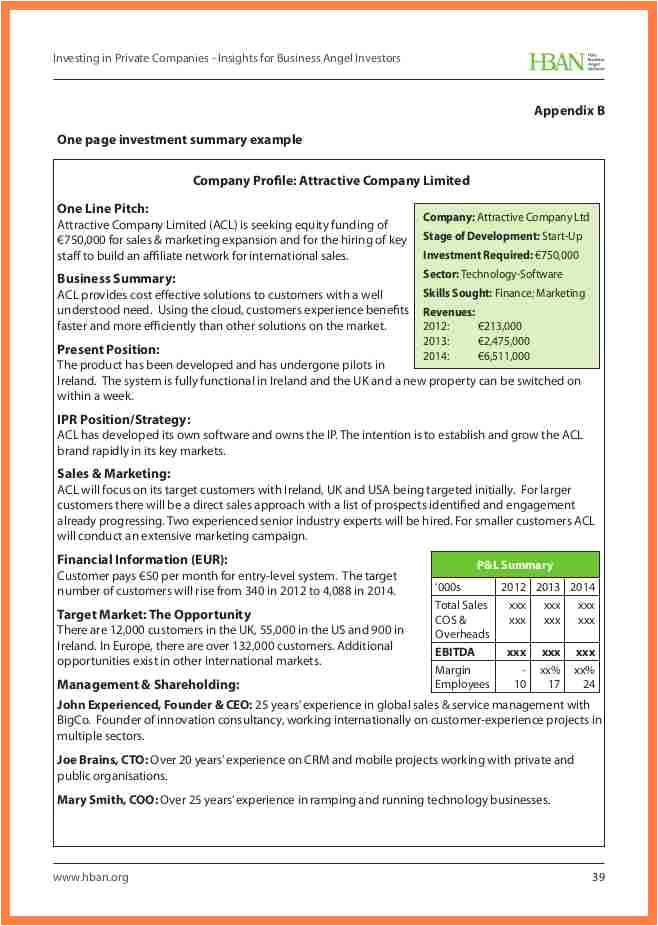 9 one page company profile sample