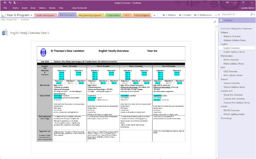 epic planning in onenote 19564