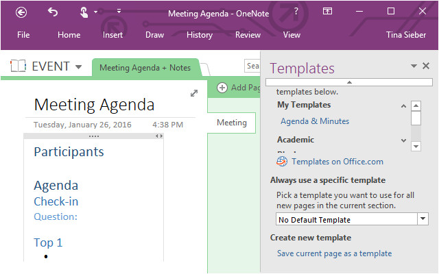 can use microsoft onenote project management