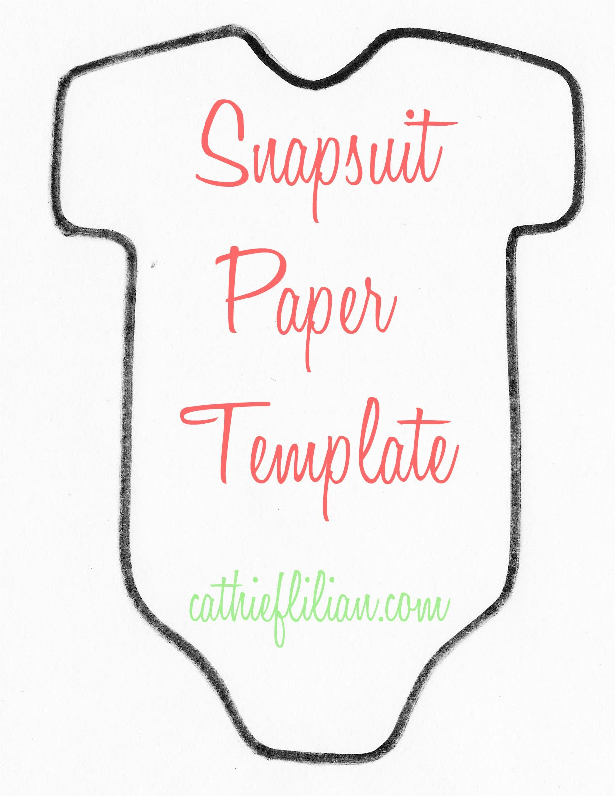 Onesie Paper Template Snapsuit Decorating Baby Shower Handmade Invitations