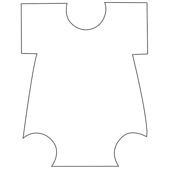 Onesie Paper Template Templates Baby Onesie and Cut Outs On Pinterest