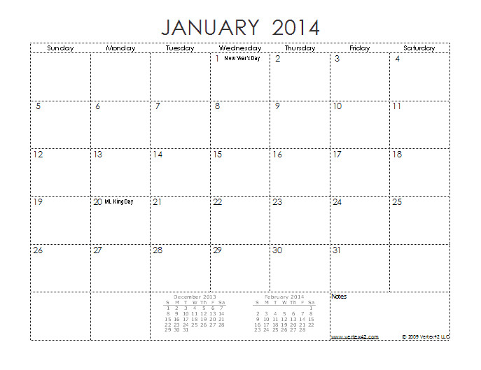 post 12 month calendar 2014 printable 76658