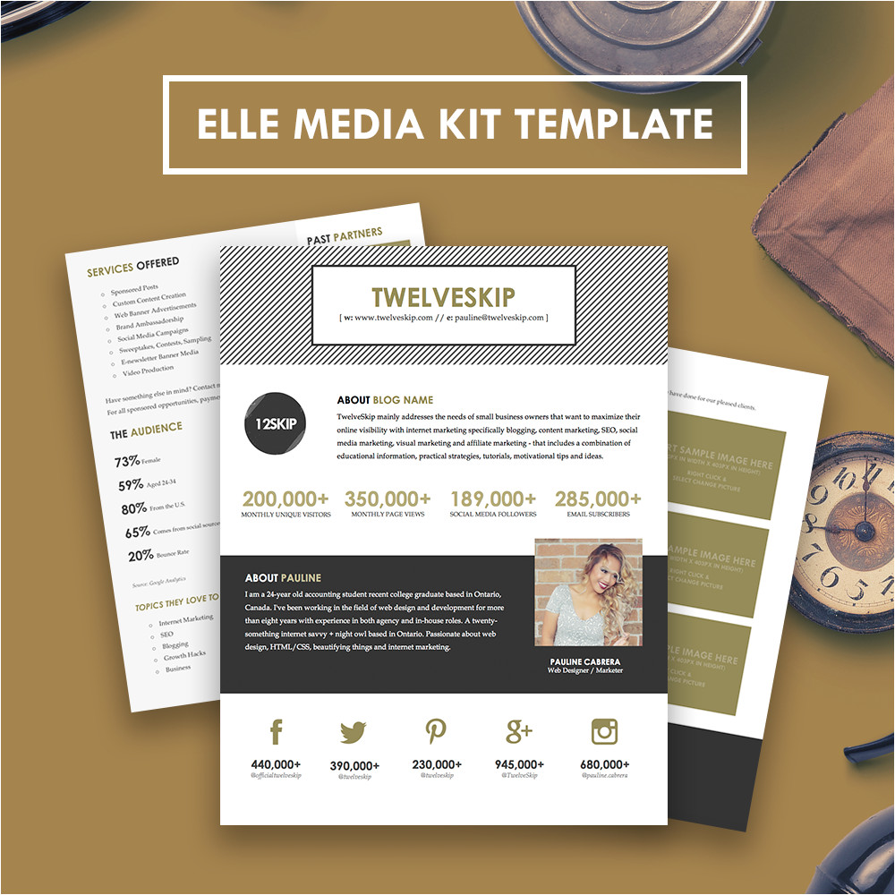 elle media kit template