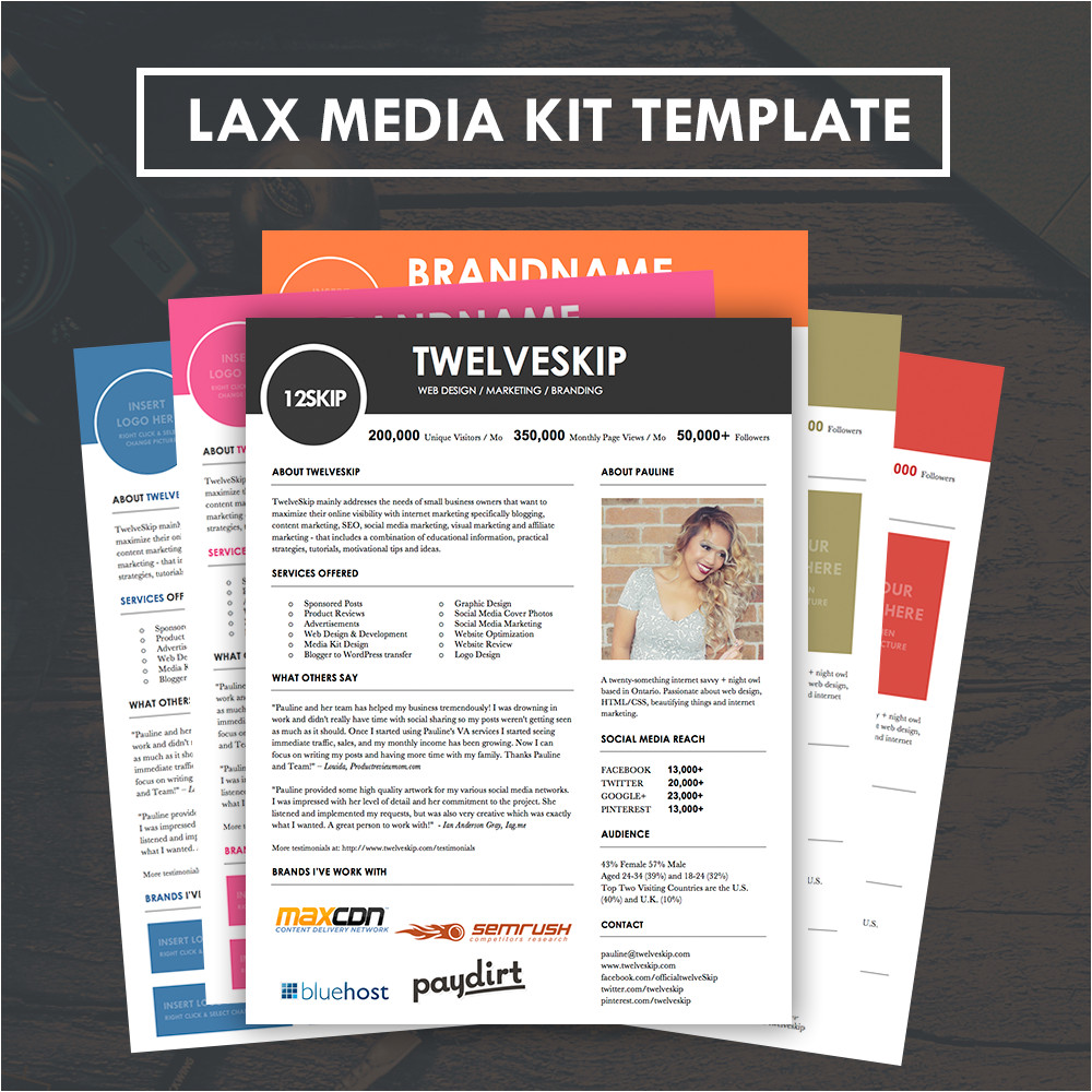 lax media kit template