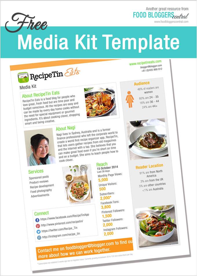media kit template free