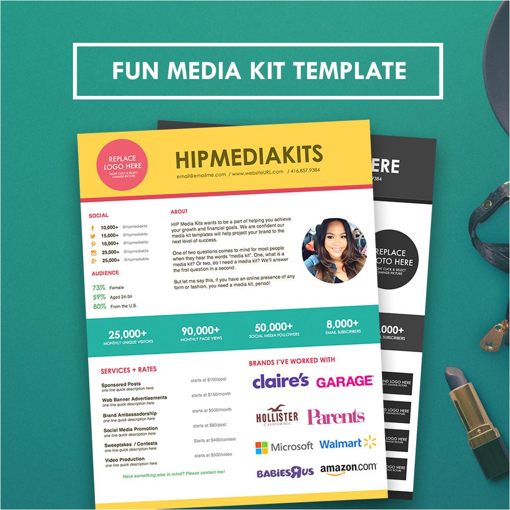 Online Press Kit Template Fun Media Kit Press Kit Template Hipmediakits