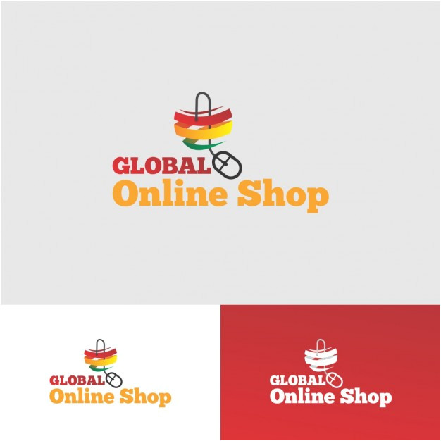 Online Shopping Logo Templates Online Shop Logo Design Vector Free Download