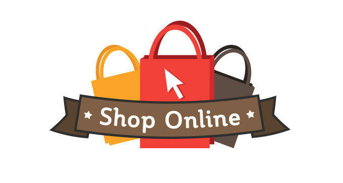 online shop vector logo template