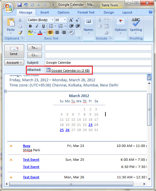 add calendar schedule out of office outlook responses