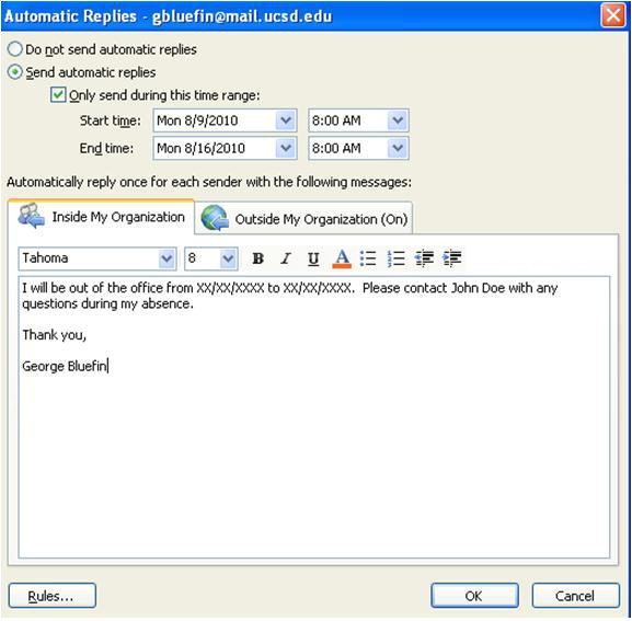 how can i see from exchange server if user has