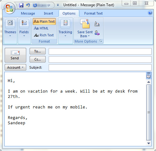 set up auto replies emulate out of office ms outlook