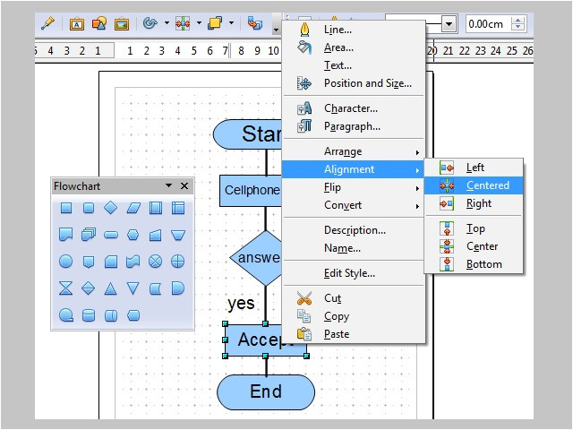 use charts and diagrams in openoffice org draw
