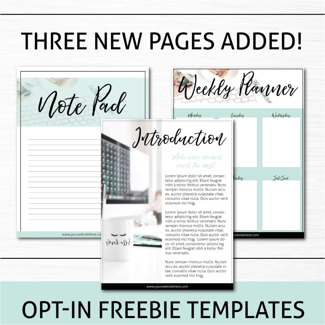 opt in templates pack black turquoise and copper