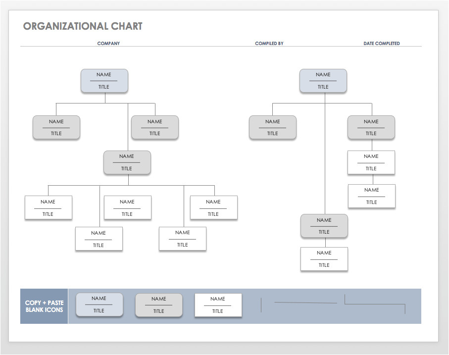 org chart templates word