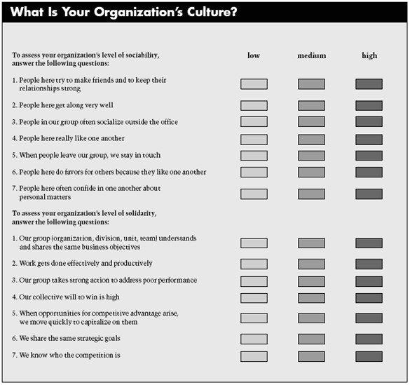 Organizational Culture assessment Instrument Template Example organizational Culture assessment Instrument