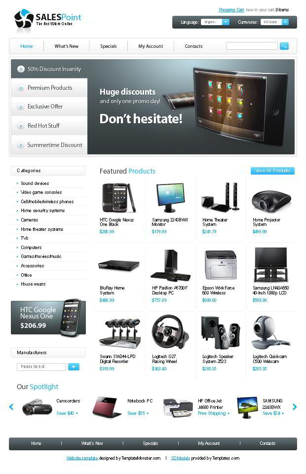 Os Commerce Templates Free Oscommerce Template for Electronics Store Monsterpost