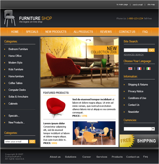 oscommerce template